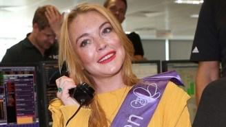 Lindsay Lohan Wants Everyone To Stop 'Bullying' President Trump