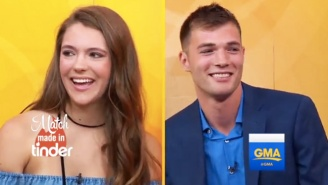 Watch This Tinder Match Meet On 'Good Morning America' For The First Time After Three Years Of Messaging