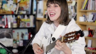 Watch Aldous Harding's Strangely Surreal Tiny Desk Concert For NPR