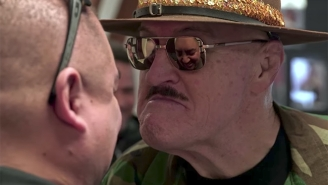 Watch Sgt. Slaughter Put Gabriel Iglesias Through Training Camp In 'Fluffy's Food Adventures'