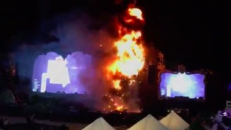 Thousands Of Festival Goers Were Evacuated From Tomorrowland After The Stage Caught Fire