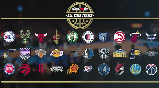 The Full Rosters For Every Franchises 'NBA 2K18' All-Time Team