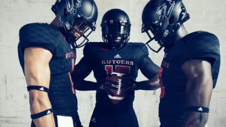 Rutgers' Awesome Black Adidas Uniforms Will At Least Make Them Look Good