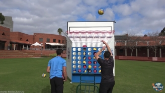 This Giant Basketball Connect Four Game Is Every Kid's Dream Come True