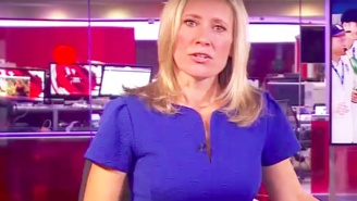 The BBC Inadvertently Aired A Steamy Scene In The Background Of An Evening News Program