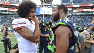 Michael Bennett Sat During The National Anthem In Protest Of The Charlottesville Tragedy