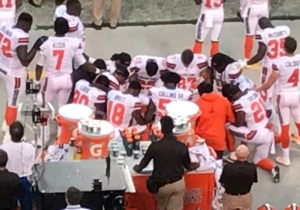 A Number Of Cleveland Browns Players Took A Knee During The National Anthem Prior To A Preseason Game