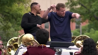 Will Smith And James Corden Go To A Whole New Level In The Premiere Of Apple's 'Carpool Karaoke' Series