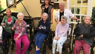 Patients From The Flooded Texas Nursing Home Who Went Viral Posed For A Follow-Up Photo On Dry Land