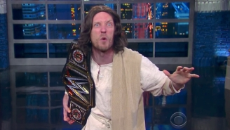 Stephen Colbert Gets Some Help To Address WWE Trademarking '3:16' From The Bible