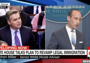 CNN's Jim Acosta Was Aghast That Stephen Miller — A Duke Grad From Santa Monica — Accused Him Of 'Cosmopolitan Bias'