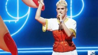 Katy Perry And Nicki Minaj Created A Surreal Basketball World For 'Swish Swish' At The VMAs