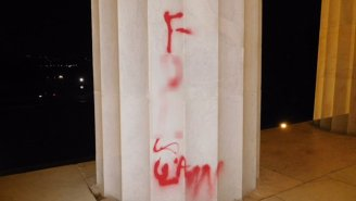 The Lincoln Memorial Was Vandalized With Red Spray Paint Overnight