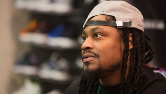 Marshawn Lynch Sat During The National Anthem Before The Raiders' Preseason Game