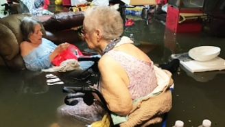 A Horrifying Photo From Inside A Flooded Texas Nursing Home Fortunately Has A Happy Ending