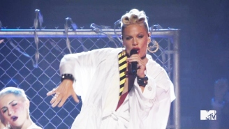 Pink's Awesome, Career-Spanning VMAs Medley Celebrated Her Vanguard Award And Icon Status