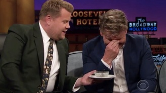 James Corden Gets Revenge On Gordon Ramsay For Making Him Eat A Fish Eye Years Ago