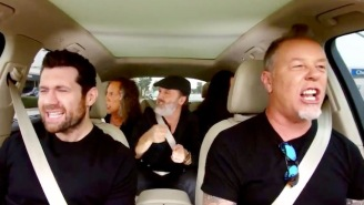 Here's What Rihanna Sounds Like Belted Out By Metallica On 'Carpool Karaoke'