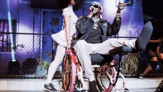 2 Chainz Broke His Leg, But Kicked Off His Tour Anyway Sitting In An Opulent, Pink Wheelchair