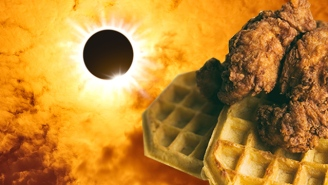 This Map Shows Where To Eat Chicken & Waffles On The Eclipse's 'Path Of Totality'