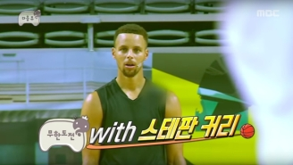 Steph And Seth Curry Played A Bizarre Game Of 2-On-5 On A Korean Television Show