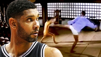 Tim Duncan Once Elbowed His Kickboxing Trainer's Bicep Off