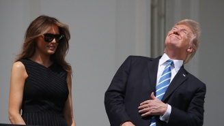 President Trump Stared Directly Into The Solar Eclipse, And Nobody Can Handle It