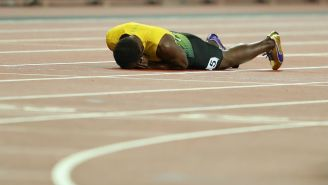 Usain Bolt Was In Tears After He Failed To Finish In His Final Race Before Retirement