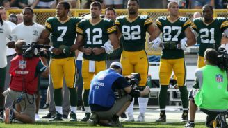 Aaron Rodgers Wonders Why People Kneeling With Cameras At Sporting Events Aren't Ridiculed