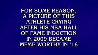 'Jeopardy!' Really Asked A Question About The Crying Jordan Meme