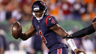Deshaun Watson Took Off For A 49-Yard Touchdown Run Right After Getting Lit Up