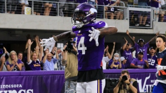 A Vikings Wide Receiver Paid Tribute To Randy Moss With His Cleats And Touchdown Celebration