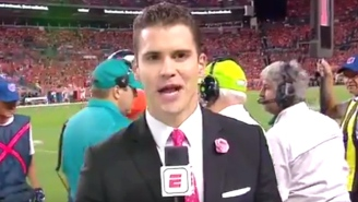 An ESPN Sideline Reporter Had A Rough 'Monday Night Football' Debut, But He Handled It Perfectly
