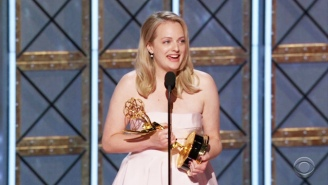 Elisabeth Moss Walks Away With An Emmy Win For Lead Actress In A Drama For 'The Handmaid's Tale'