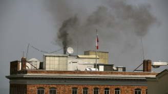 Smoke Billows Out Of The Russian Consulate In San Francisco After The State Department Orders Its Closure