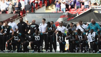The Jaguars And Ravens Came Together For A Massive Anthem Protest In Response To Donald Trump's Comments