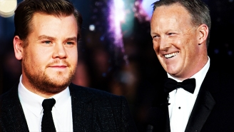 James Corden Says He Regrets Kissing Sean Spicer At The Emmys