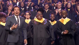 Jimmy Fallon Donates $1 Million To Hurricane Harvey Victims Before Inviting A Houston Choir To Sing 'Lean On Me'