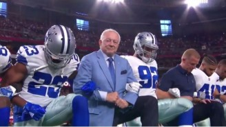 Jerry Jones Advocated Against NFL Teams Protesting One Day After Taking A Knee With The Cowboys