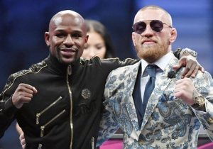 Floyd Mayweather's New Mansion Has A Massive Conor McGregor Mural In It
