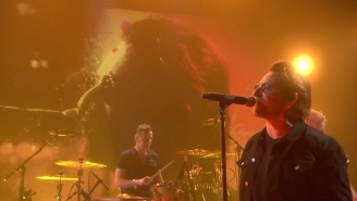 U2 Turned In A Psychedelic, Late Night Performance Of Their New Single 'You're The Best Thing About Me'