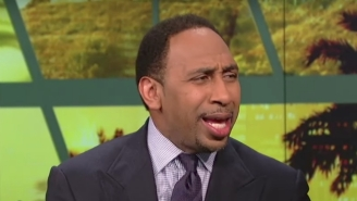Stephen A. Smith Wanted To Make It Clear He Wasn't On The Floor During The Eric Bledsoe-Joel Embiid Scrap