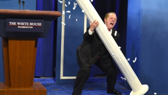 Sean Spicer Is Looking For His Piece Of Melissa McCarthy's 'SNL' Emmy Win