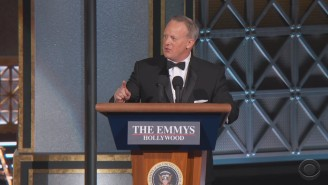 Stephen Colbert Brought Out Sean Spicer And Took On Bill Maher's N-Word For A Memorable Emmys Monologue