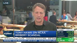 Tony Hawk Was Asked About The FBI/NCAA Basketball Investigation For Some Reason