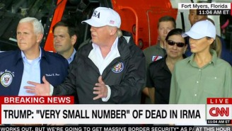 President Trump Tours Irma's Devastation, Comments On The 'Small Number Of People' Who Died