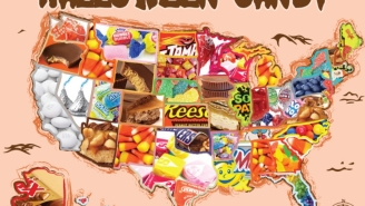 The Annual Candy-By-State Map Has Plenty Of Surprises (Who's Eating All The Candy Corn?)