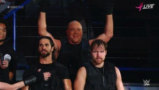 Kurt Angle Joined The Shield And Went Through A Table At TLC