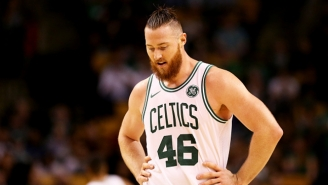 A Celtics Announcer's Shower Comments Got A Funny Reaction From Aron Baynes
