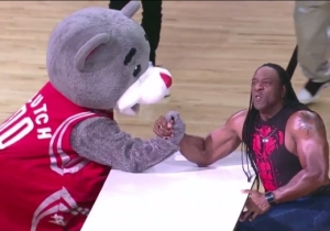Watch Booker T Put A Bear Through A Table For Beating Him At Arm Wrestling